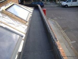 EPDM rubber lining a box gutter