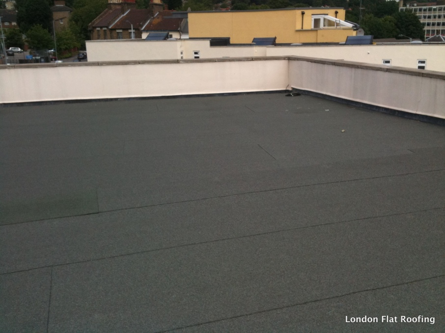 Old Flet Flat Roof And Parapet Wall 171 Epdm Rubber And