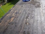 Decking for flat roofs made out of timber