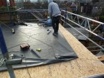 new OSB decking for a new flat roof before the EPDM rubber is laid