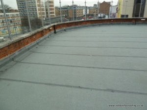 We need to install a new flat roof as this roof is still leaking after it has been repaired