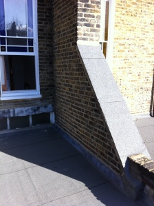 old flet roof on a flat in Hammersmith