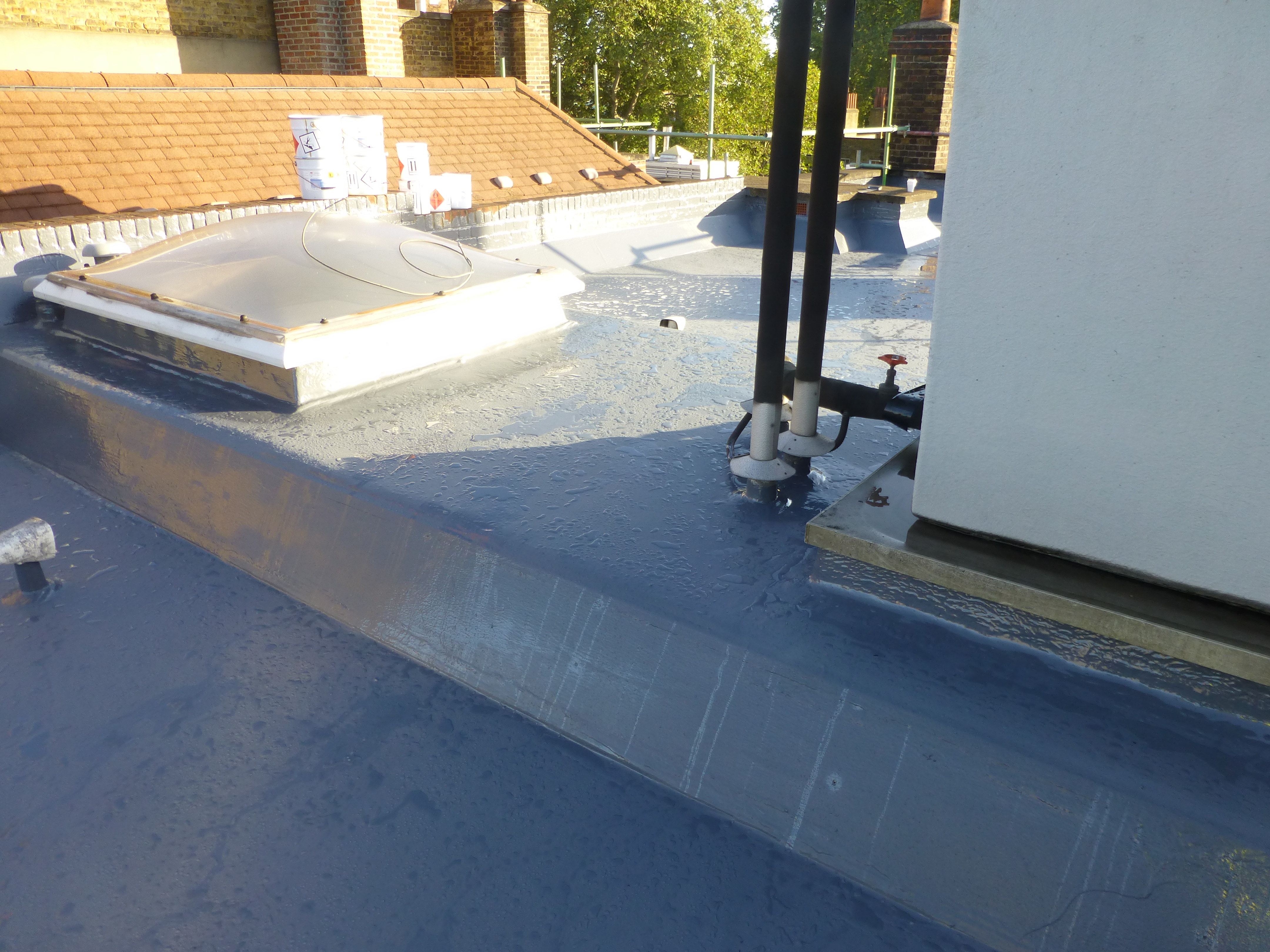 Warm flat roof epdm rubber and liquid flat roofs if sciox Gallery